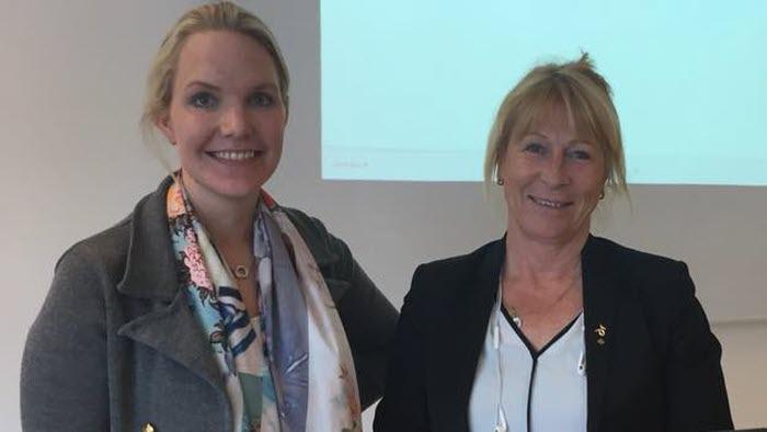 Viktoria Östlund och Margareta Åberg