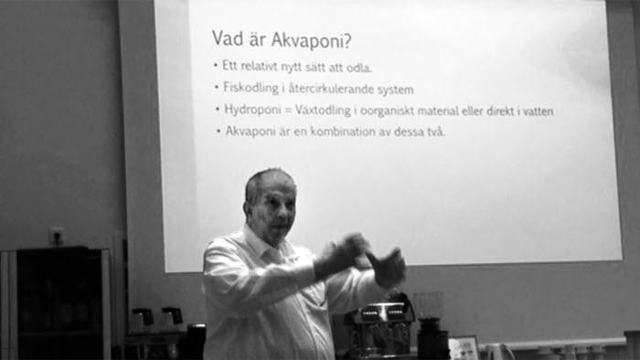Bo Persson berättar om akvaponik
