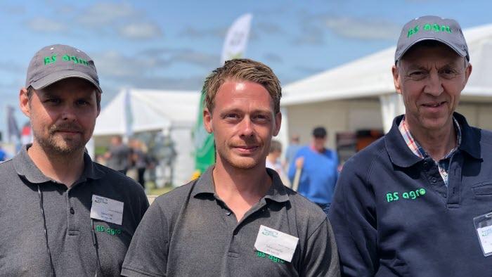 Daniel Ulff, Johan Gauffin och Ingemar Haggärde från BS Agro
