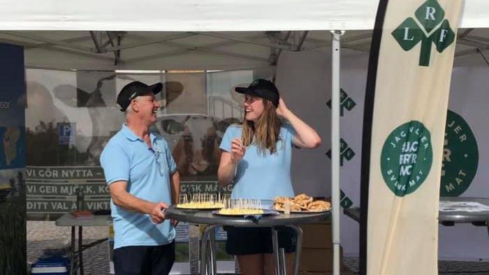 Vattenveckan Kjell Johansson och Erica Pershagen