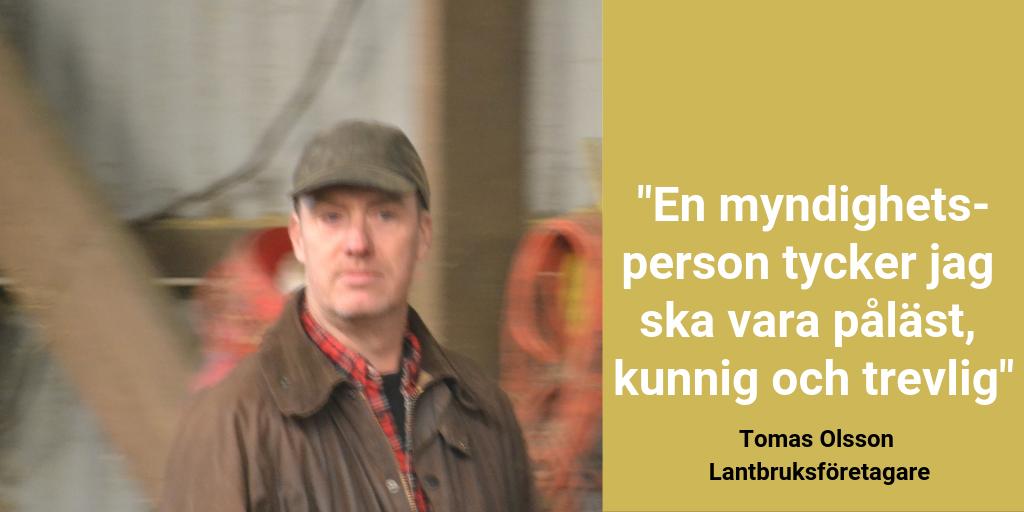 God myndighetsutövning - Twitter, Tomas Olsson