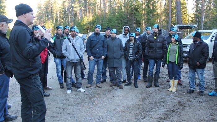 Studiebesök i skogen i Söderhamn