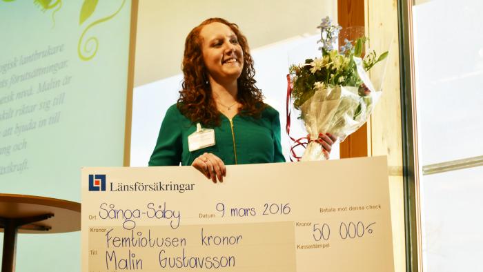Malin Gustavsson vinnare av Ung Växtkraft