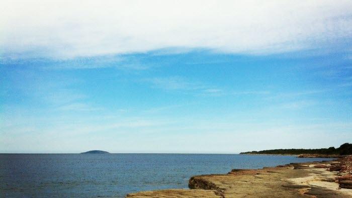 Solsken vid kusten