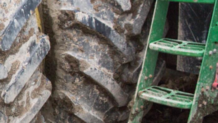 Traktordäck på Rogsta gård