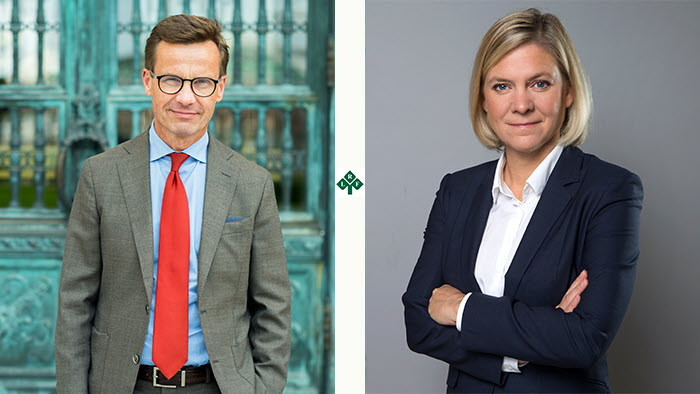 Ulf Kristersson och Magdalena Andersson besöker riksförbundsstämman