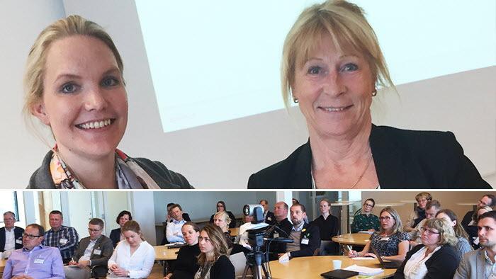 LRF Kötts Viktoria Östlund och Margareta Åberg låg bakom LRF Kötts Bankdag där 75 bankanställda deltog