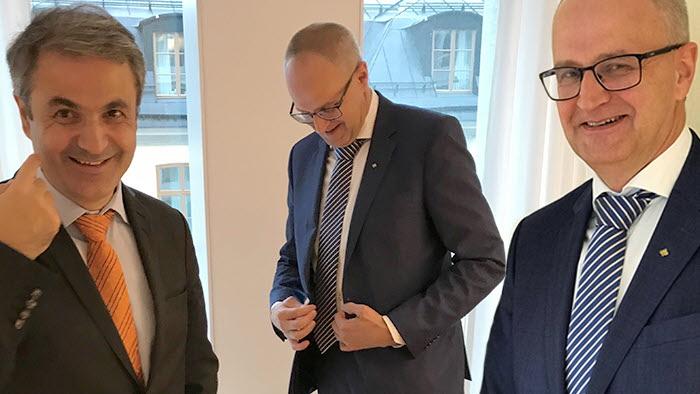 Näringsministern Ibrahim *Baylan och Palle Borgström pratade god myndighetsutövning och överimplementering av EU-regler