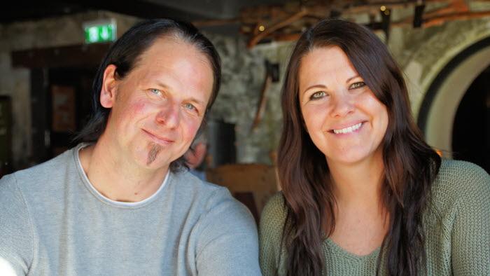 Anders och Linda Viljeros, ägare av Restaurang Villgot