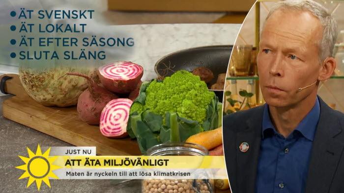Johan Rockström uppmanar till att äta svenskt, kött och rotfrukter