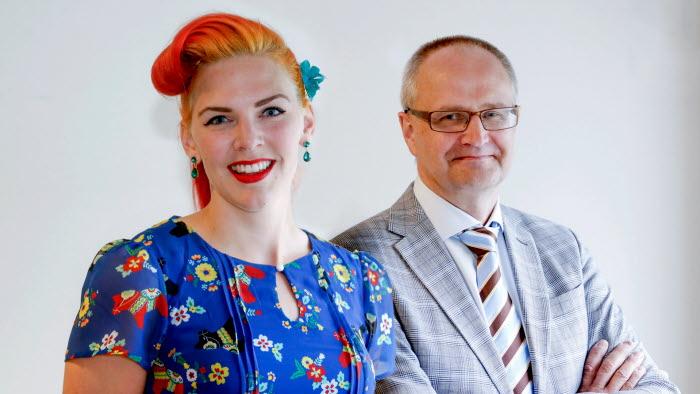 Emilia Astrenius Widerström och Palle Borgström på riksförbundsstämman 2017