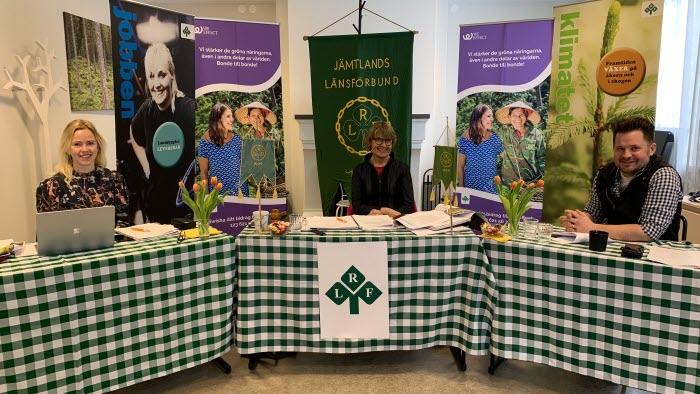 Presidiet LRF Jämtlands regionstämma 2021.