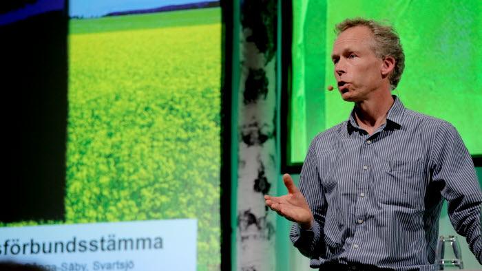 Johan Rockström, professor i naturresurshushållning på Stockholms universitet, höll ett uppskattat föredrag. Foto: Johanna Norin