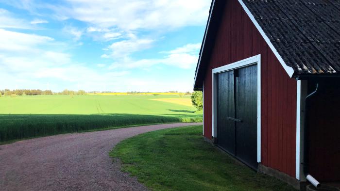 Hovsnäs gård, Vadstena. Hemma hos spannmålsodlaren Anders Hovnert.