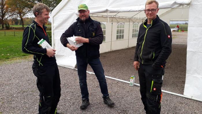 Magnus Lundqvist, Peter Johansson och Fredrik Lundqvist