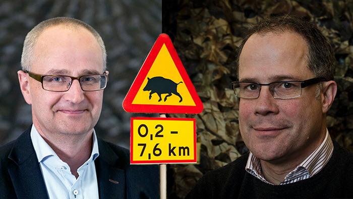 LRFs Palle Borgström och Svenska Jägareförbundets Torbjörn Larsson i ett gemensamt utspel kring vildsvinsfrågan