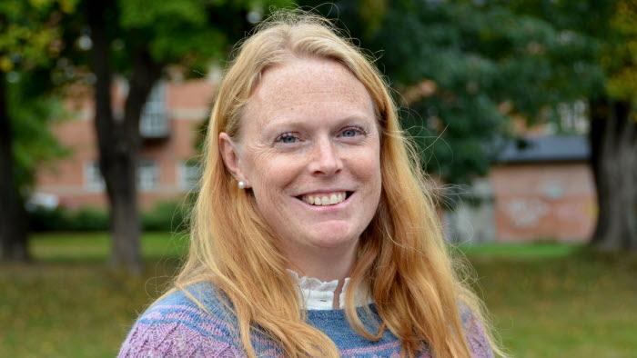 Kristine Johansson som arbetar med skog och friluftsliv på Karlstad kommun