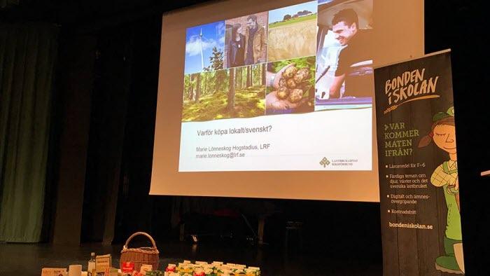 Föredrag för skolelever av Marie Lönneskog Hogstadius vid Vadstenas lokalproduceratvecka