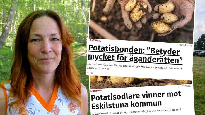 LRFs jurist Helena Andreason kommenterar potatisdomen och parkeringsdomen. Två fall som stärker äganderätten