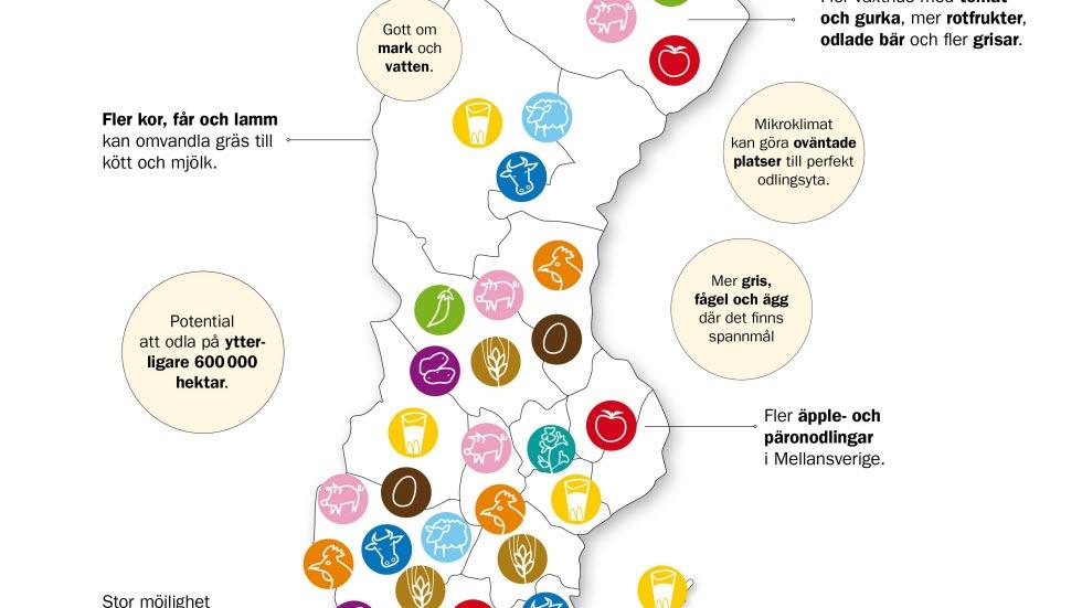 Här finns potentialen för livsmedelsproduktion