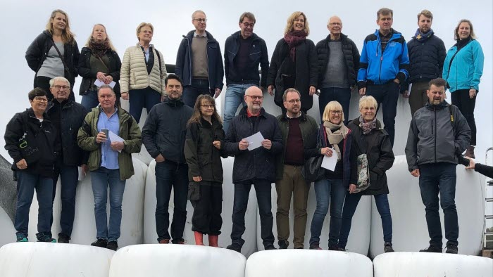 Åkermarken ska brukas, inte förbrukas, politikerträff, Varbergs kommungrupp