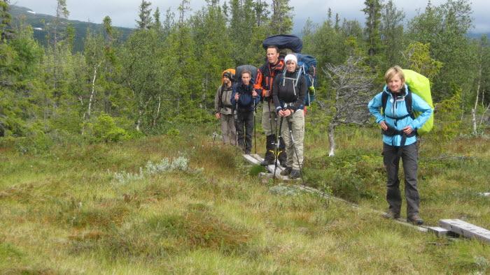 Fjällvandring, en populär aktivitet för semesterlediga bönder