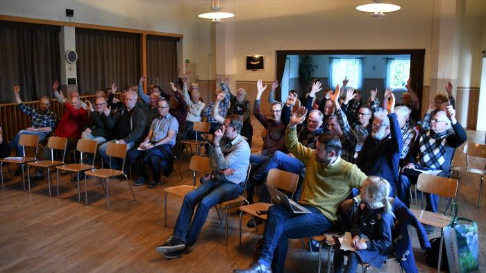 Möte om älgförvaltning i Köinge maj 2018