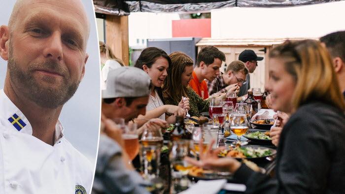 Gustav Arnell och LRF satsar på mer svenskproducerad mat på restaurangerna.