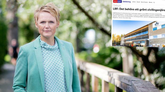 Anna Karin Hatt vill se ett grönt civilingenjörsprogram i Sverige.