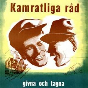 Propagandaaffisch från Jordbrukets Skyddspropaganda.