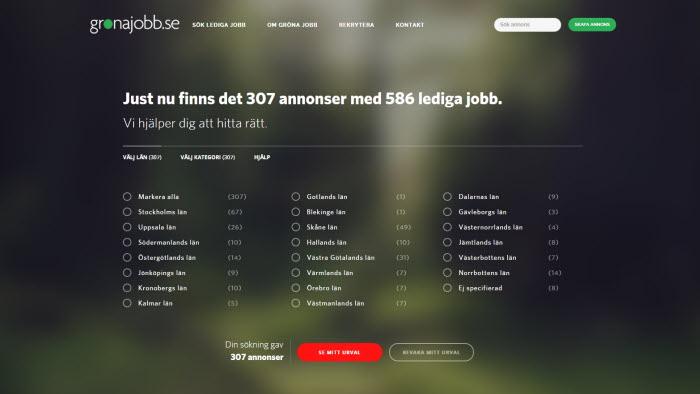 Webbsajten gröna jobb