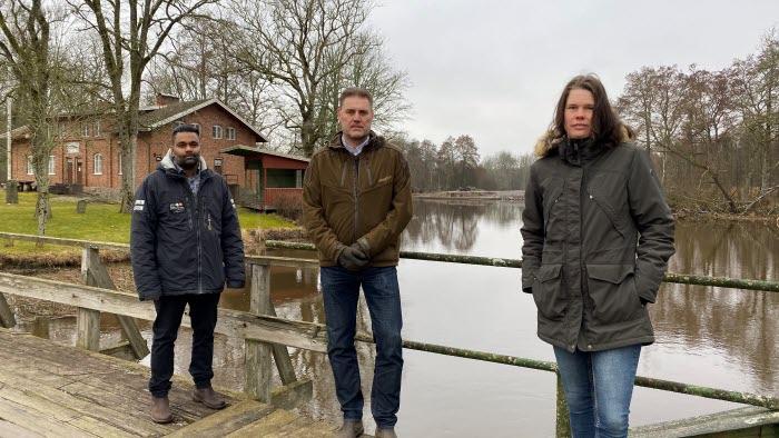 Daniel Andersson kommunalråd i Essunga, Kent Larsson Kommunalråd i Grästorp samt Carolin Larsson Främmestad Egendom