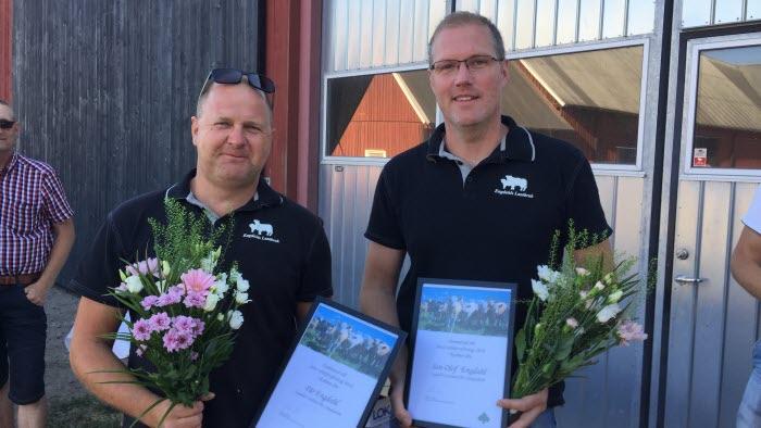 Pär och Jan-Olof Engdhahl, årets nötköttsföretagare Kalmar 2018, Sydost