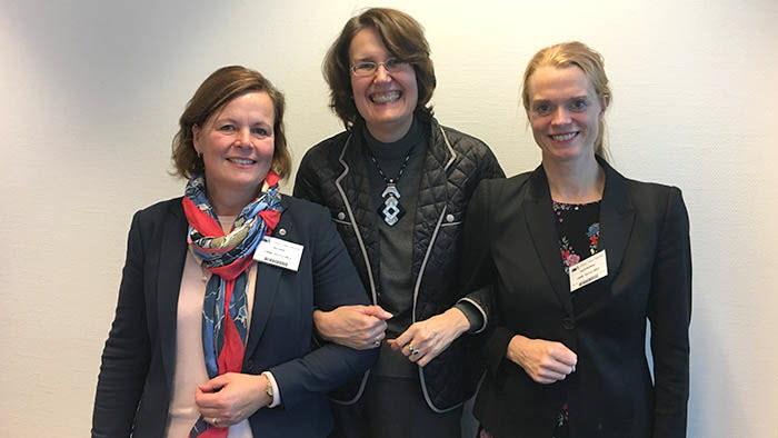Sandra Gallina, EUs chefsförhandlare för Mercosur, tillsammans med Åsa Odell och Ingrid Rydberg