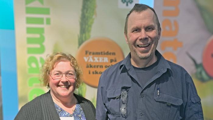 Jenny Karlsson, ordförande LRF Norrbotten och Sven Danell, ledamot regionstyrelsen