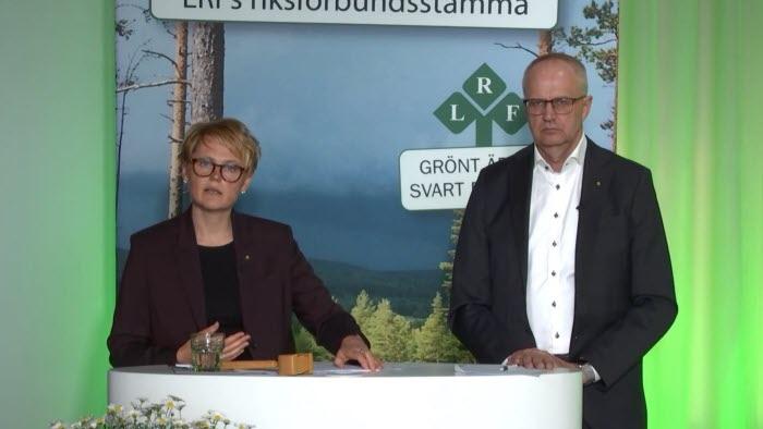 Anna Karin Hatt och Palle Borgström Riksförbundsstämman 2021