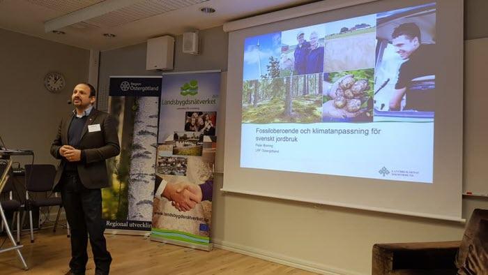 Peter Borring, ordförande LRF Östergötland, pratar om klimatutmaningar på EDAY 2018