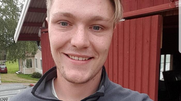 Joel Jonsson, vice ordförande i LRF ungdomen i Gävleborg