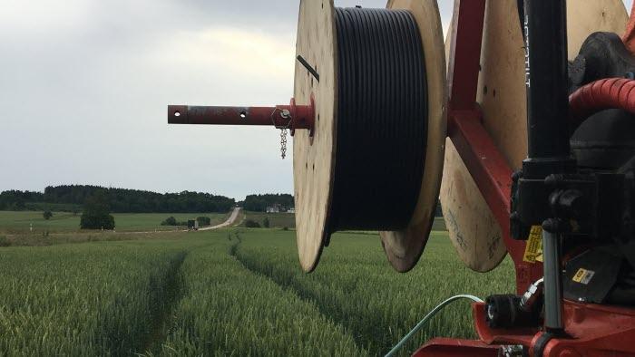 Halland skrea fiberdragning