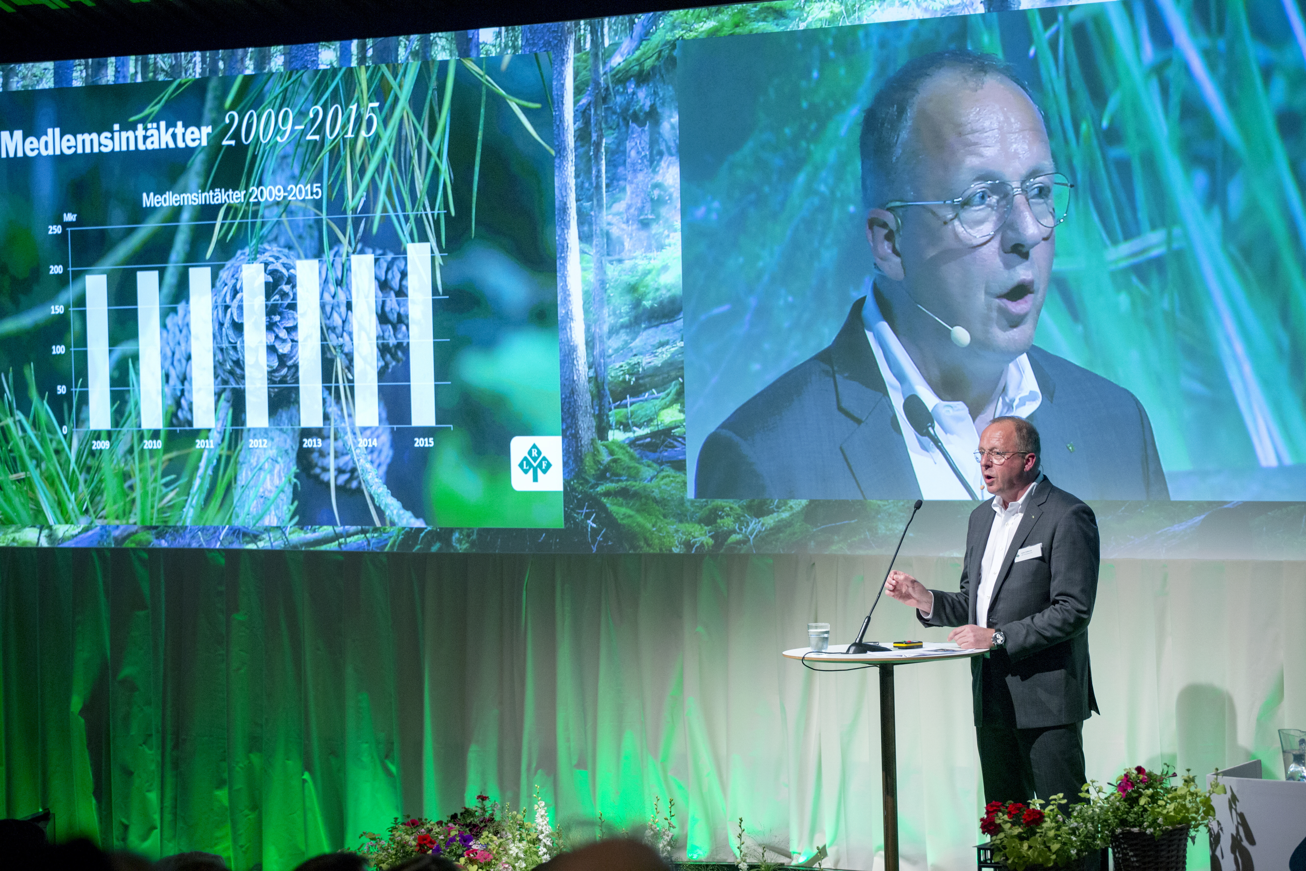Anders Källström talar på riksförbundsstämman 2016