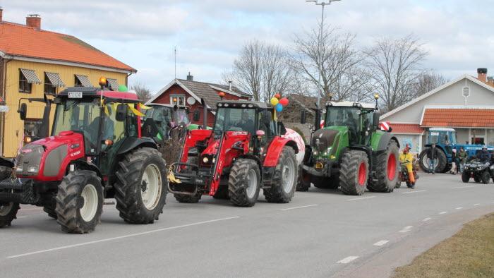 Traktorparad med Nysund LRF-avdelning