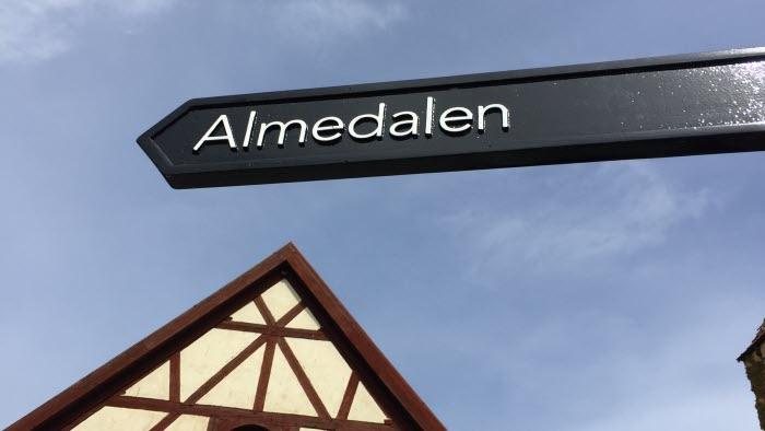 Skylt till Almedalen