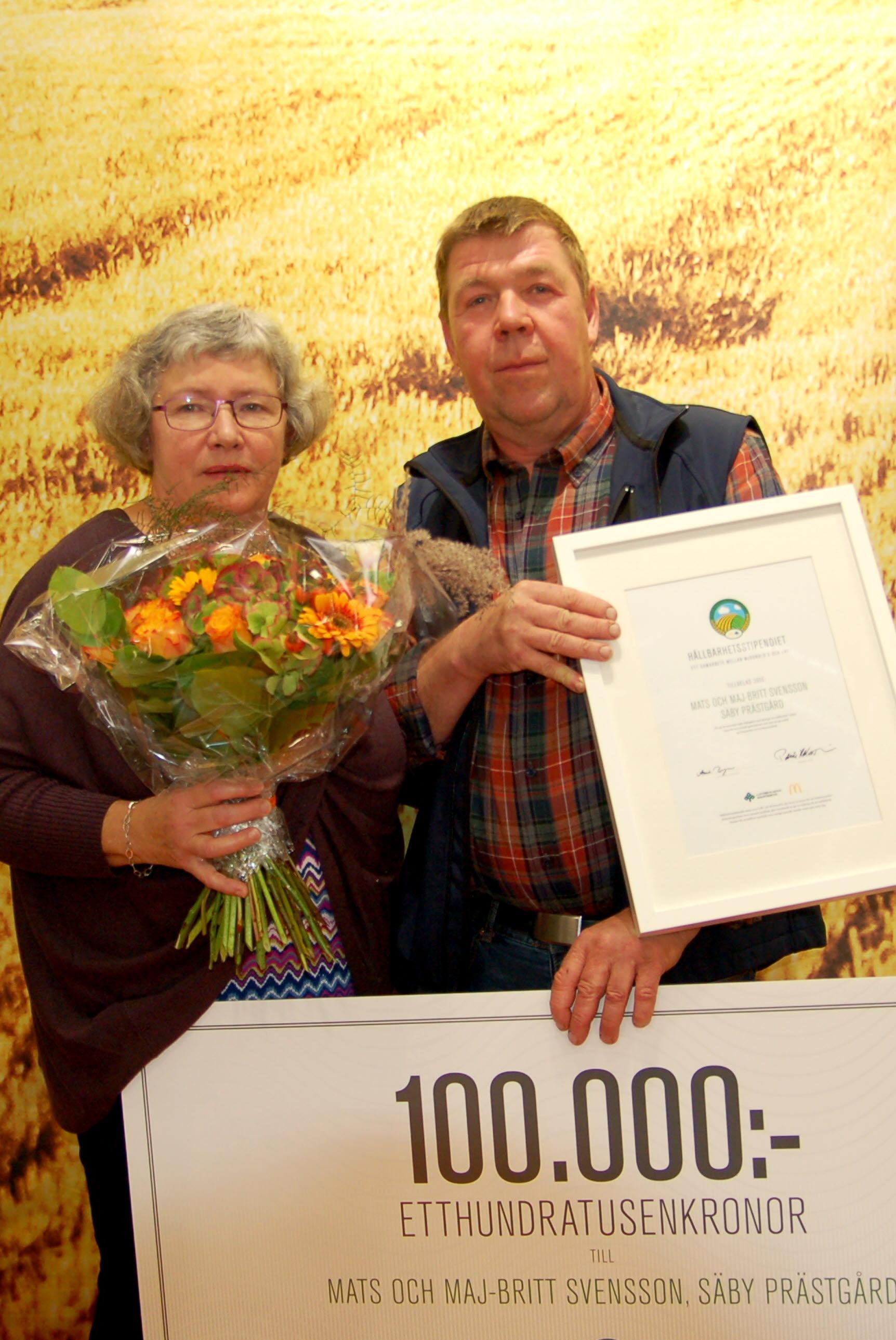 innarna av 2015 års Hållbarhetsstipnedium - Mats och Maj-Britt Svensson, Säby Prästgård, Tranås