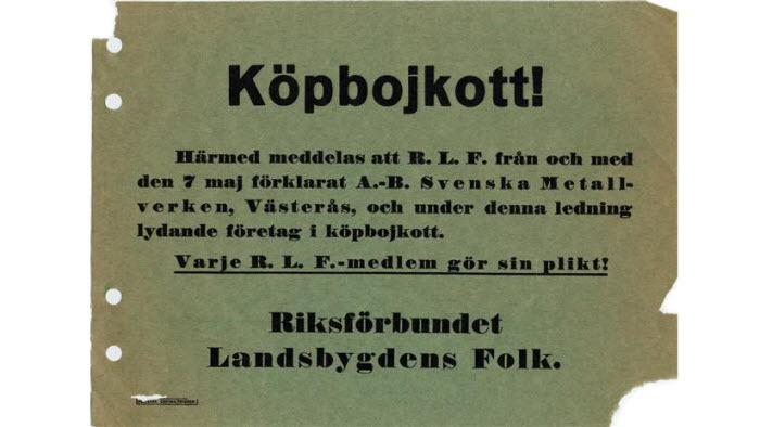 Köpbojkott, prisförhandlingar, LRFs historia