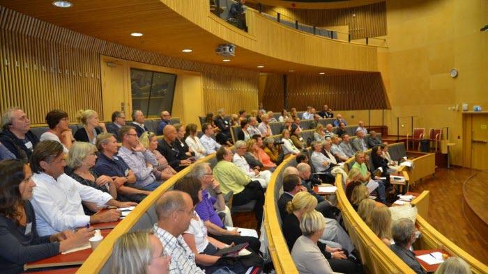 Speciellt inbjudna gäster bjöds på intressanta föredrag i hörsalen. LRF Västra Götalands vice ordförande, Monica Didriksson, var en av talarna. Foto: Berit Stridh