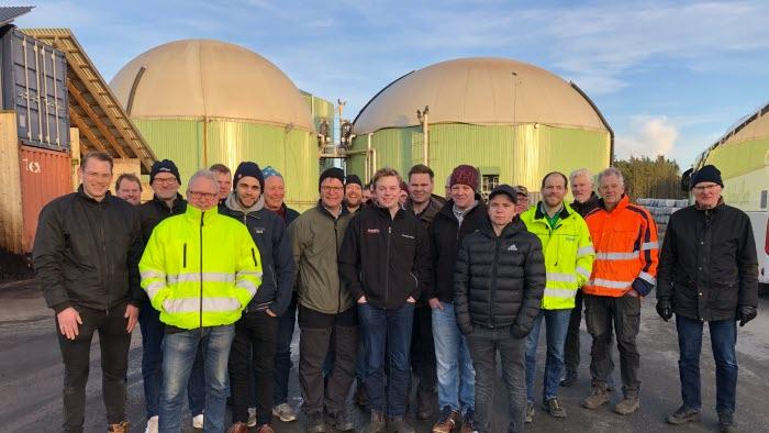 Biogasintresserade lantbrukare på studiebesök från Säffle och Åmål