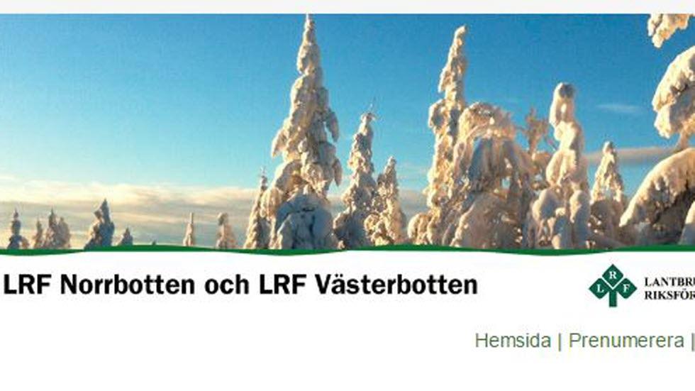 Bildhuvud Nyhetsbrev LRF Västerbotten och LRF Norrbotten