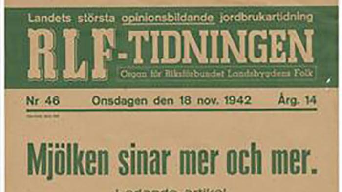 RLF-tidningen, leveransplikten, mjölken sinar
