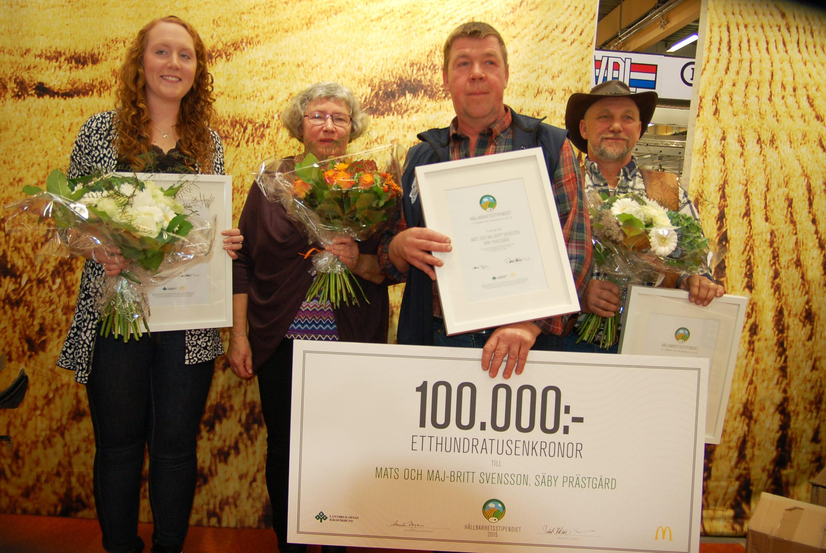 Vinnare och hederspristagare, 2015 års Hållbarhetsstipendium