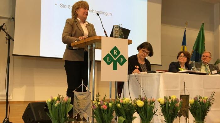 Christina Birger valdes till ny ledamot på LRF Mälardalens stämma 170314
